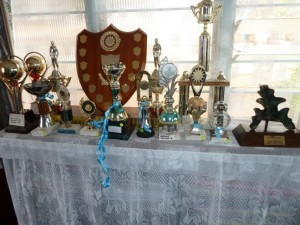 Academic achievement awards at Thika Primary, partly a result of having better access to Braille machines