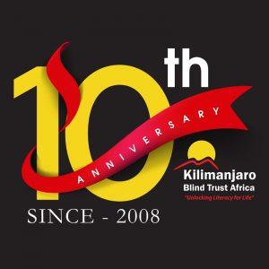 KBTA 10 year anniversary logo